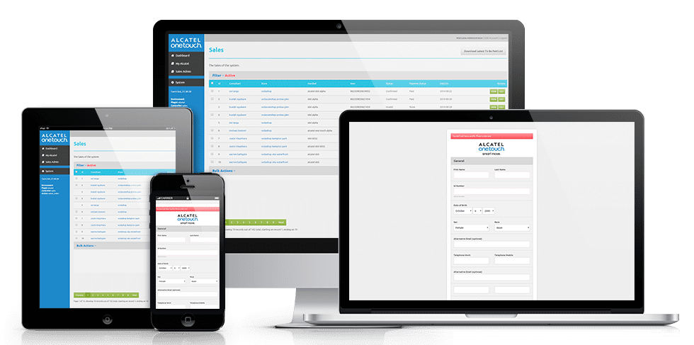 Alcatel OneTouch National Sales and Tracking Tool